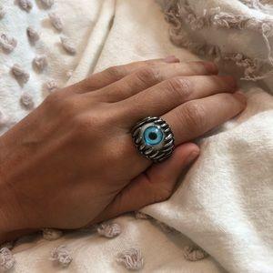 Jewelry - MENS EYE RING STERLING SILVER